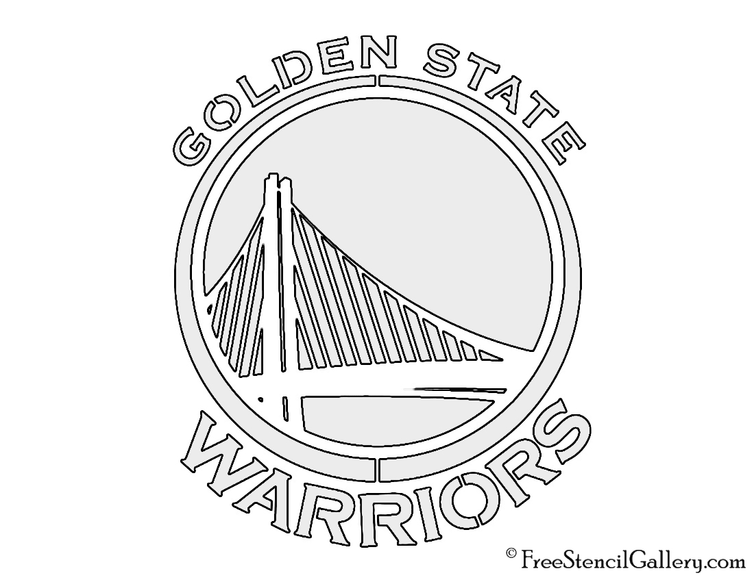 NBA Golden State Warriors Logo Stencil | Free Stencil Gallery
