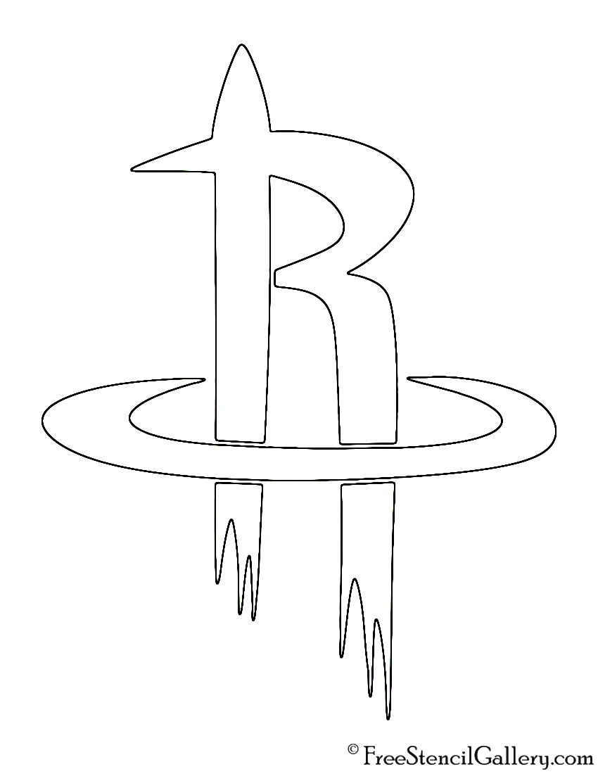 Rockets logo coloring pages