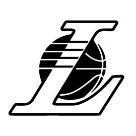 NBA Los Angeles Lakers Logo 02 Stencil | Free Stencil Gallery