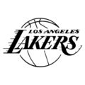 NBA Los Angeles Lakers Logo Stencil