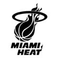 NBA Miami Heat Logo Stencil