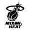 NBA Miami Heat Logo Stencil
