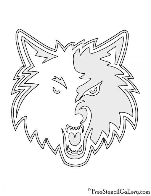 NBA Minnesota Timberwolves Logo Stencil