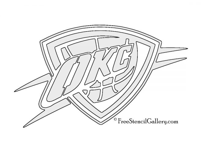 NBA Oklahoma City Thunder Logo Stencil