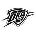 NBA Oklahoma City Thunder Logo Stencil