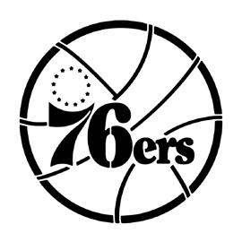 Nba Philadelphia 76ers Logo Stencil Free Stencil Gallery