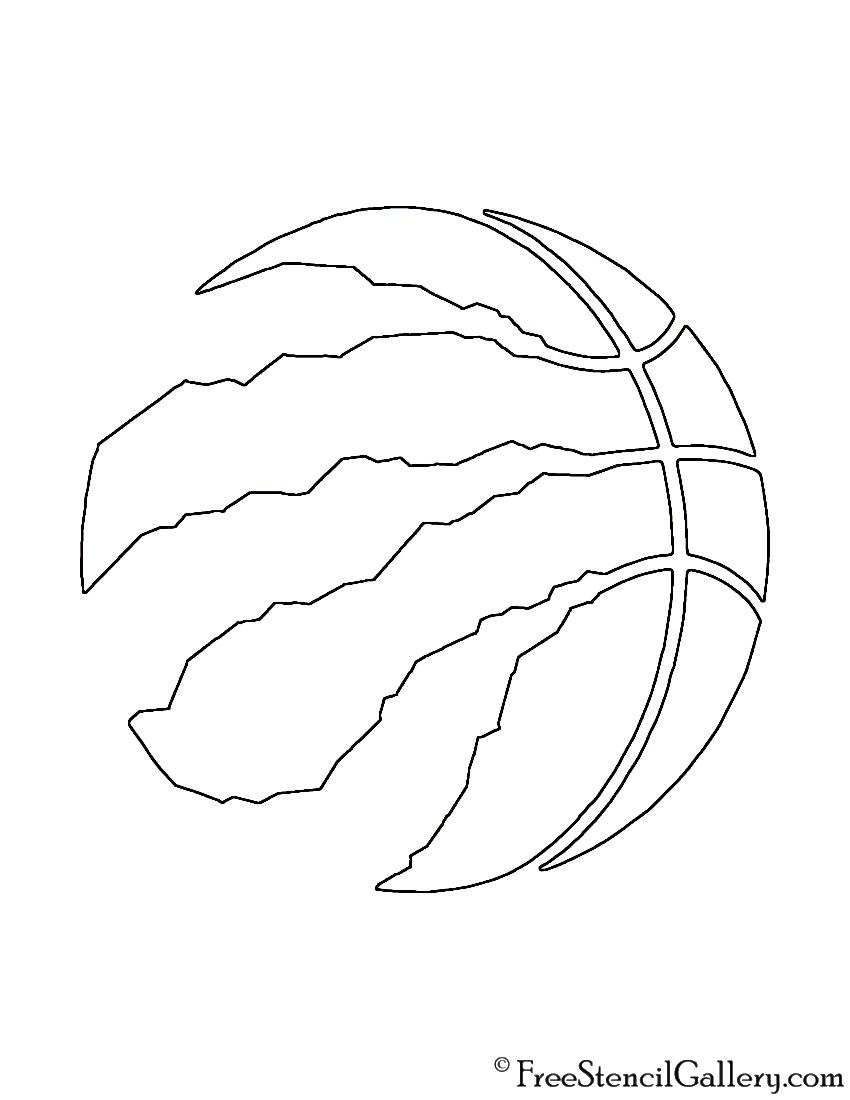 Nba Logo Black And White Stencil
