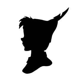 Peter Pan Silhouette 02 Stencil | Free Stencil Gallery