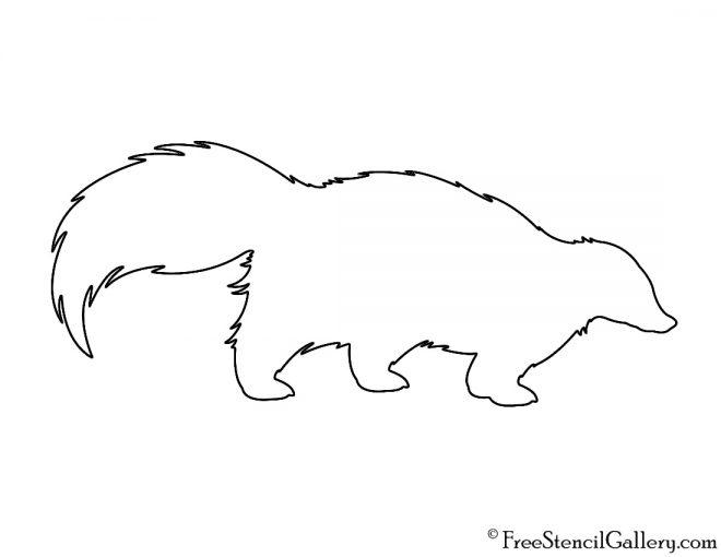 Skunk Silhouette Stencil