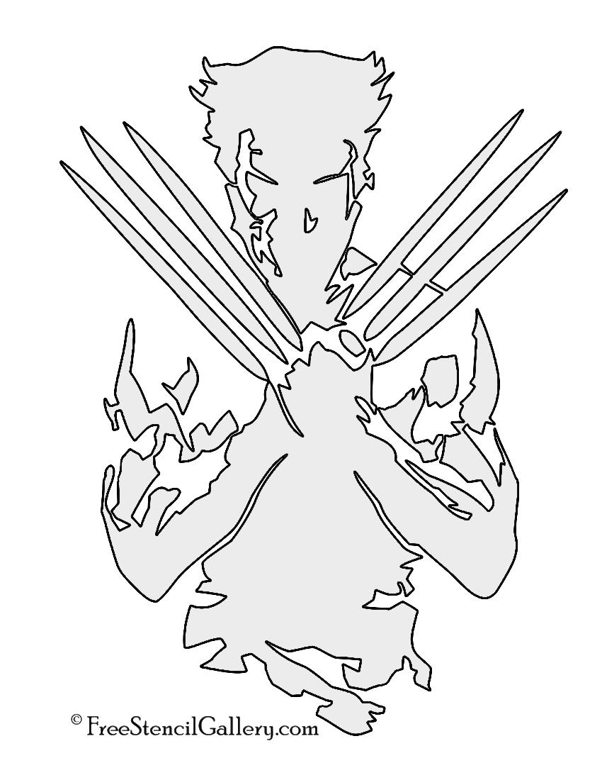 Wolverine Stencil   Free Stencil Gallery