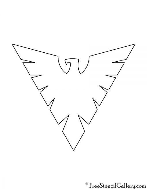 X-Men Phoenix Symbol Stencil