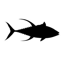 Yellowfin Tuna Silhouette Stencil   Free Stencil Gallery
