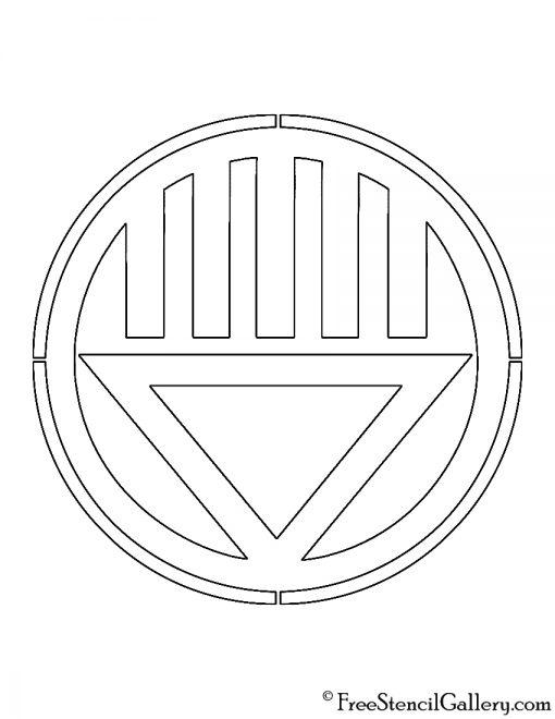 Black Lantern Corps Symbol Stencil