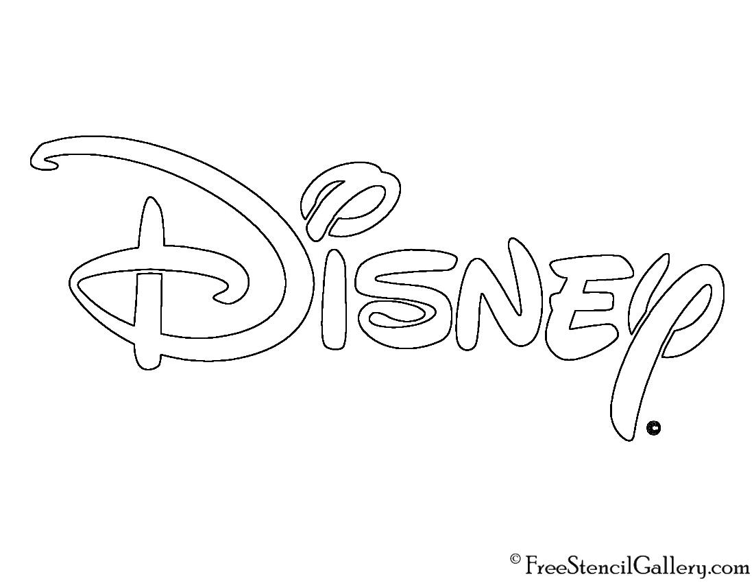 Disney Logo Coloring Pages : Disney logo stencil free gallery