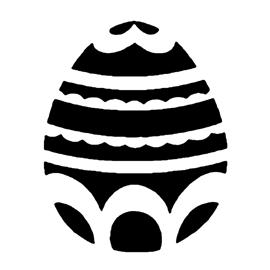Free Pumpkin Stencils >> Easter Egg 08 Stencil   Free Stencil Gallery
