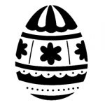 Easter Egg 16 Stencil