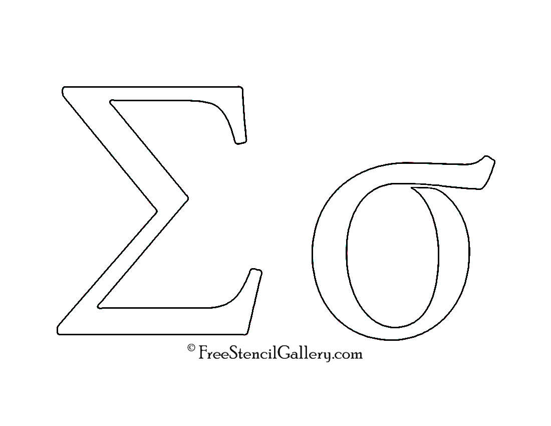 Alphabet free stencil gallery greek letter sigma buycottarizona Images