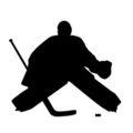 Hockey Goalie Silhouette Stencil