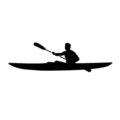 Kayaker Silhouette Stencil