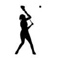 Lacrosse Player Silhouette 01 Stencil
