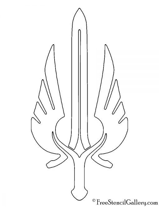 League of Legends - Demacia Crest Stencil