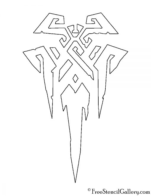 League of Legends - Freljord Crest Stencil