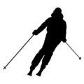Skier Silhouette 01 Stencil