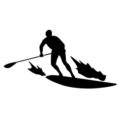 Stand Up Paddle Board Stencil