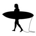 Surfer Silhouette 01 Stencil