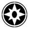 Violet Lantern Corps Symbol Stencil