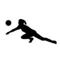 Volleyball Passer Silhouette Stencil