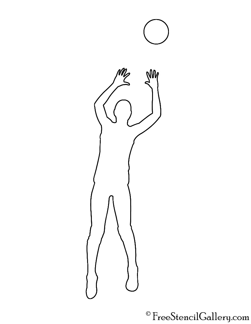 Volleyball setter silhouette stencil free gallery