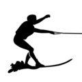 Water Skier Silhouette Stencil