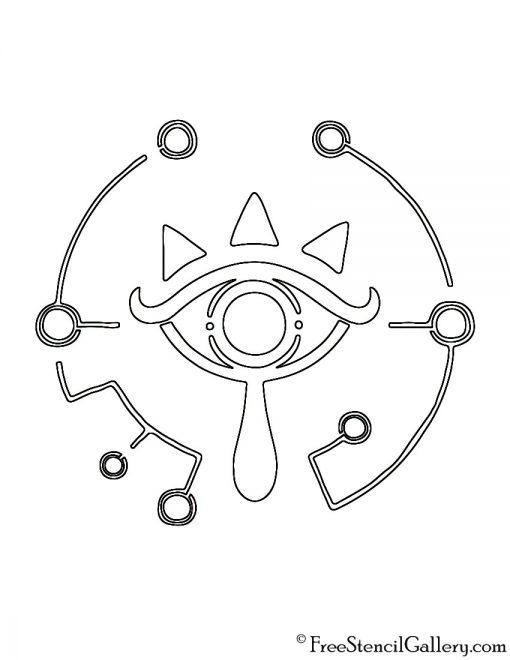 Zelda - Breath of the Wild Sheikah Eye Logo Stencil