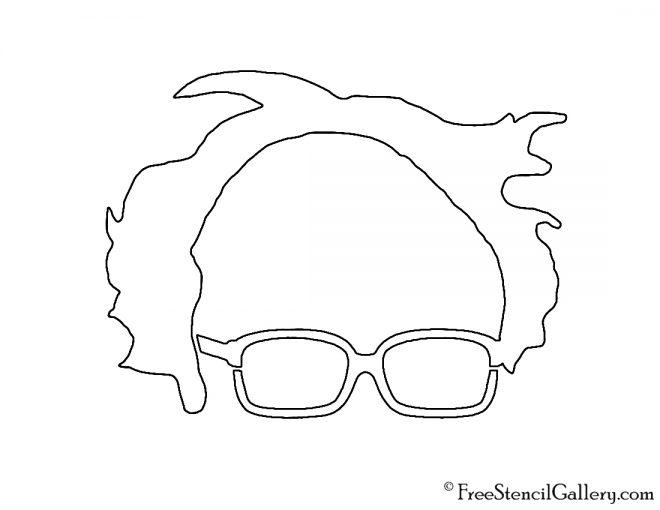 Bernie Sanders Stencil