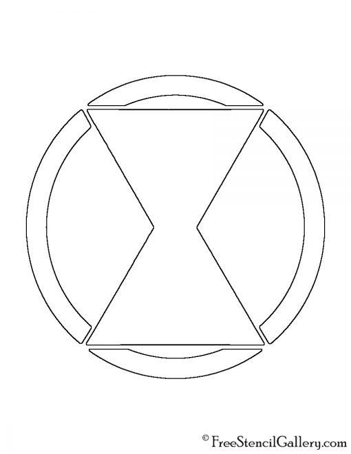 Black Widow Symbol Stencil
