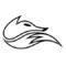 Echo Fox Logo Stencil