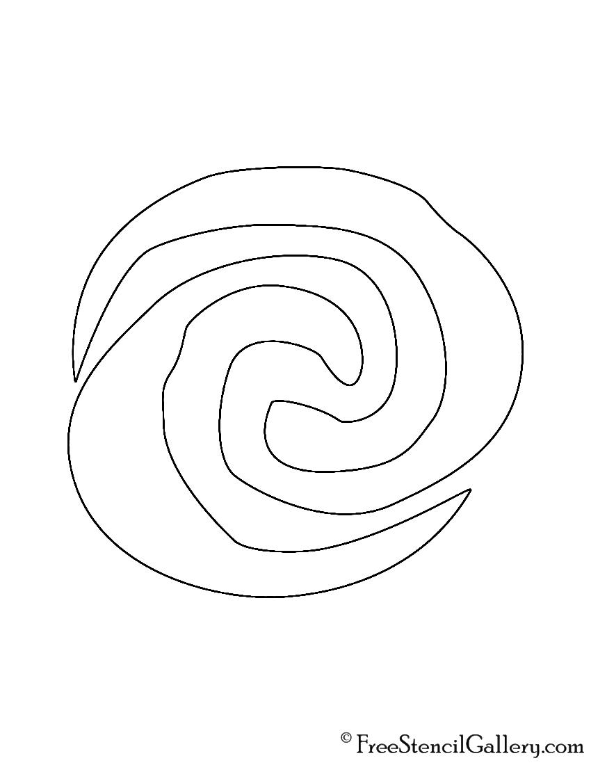 Moana Symbol Stencil | Free Stencil Gallery