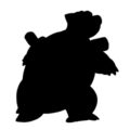 Pokemon - Blastoise Silhouette Stencil
