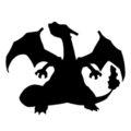 Pokemon - Charizard Silhouette Stencil
