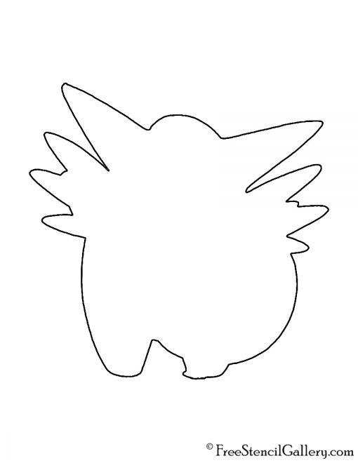 Pokemon - Clefable Silhouette Stencil