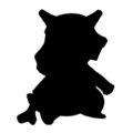 Pokemon - Cubone Silhouette Stencil