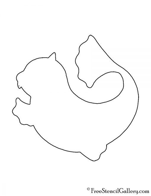 Pokemon - Dewgong Silhouette Stencil