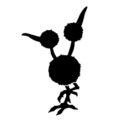 Pokemon - Doduo Silhouette Stencil