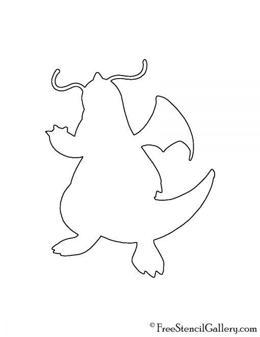 Pokemon - Dragonite Silhouette Stencil