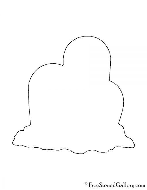 Pokemon - Dugtrio Silhouette Stencil