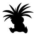 Pokemon - Exeggutor Silhouette Stencil