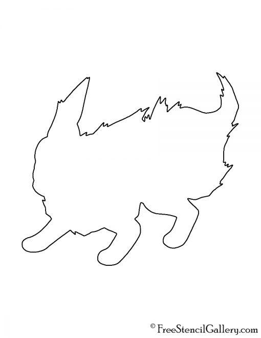 Pokemon - Flareon Silhouette Stencil