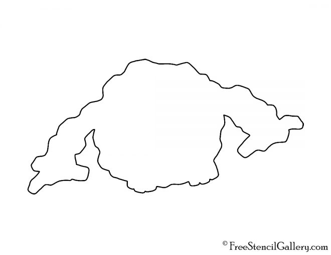 Pokemon - Graveler Silhouette Stencil