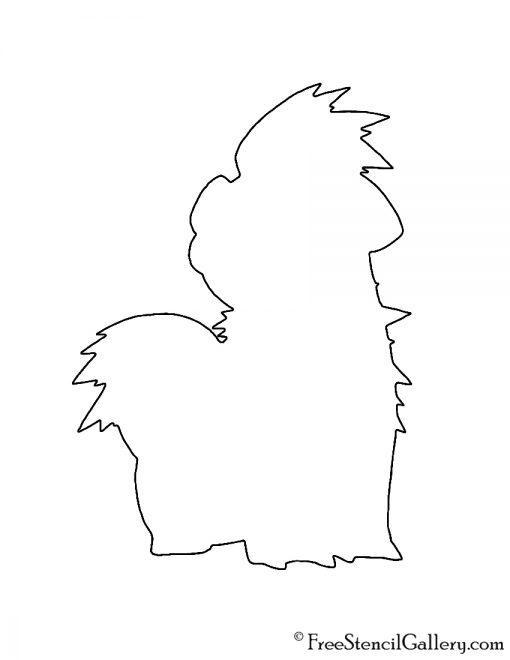 Pokemon - Growlithe Silhouette Stencil